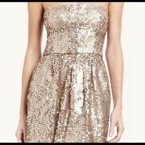 BCBGMaxAzriaSequin Gold Dress!! ⚡️